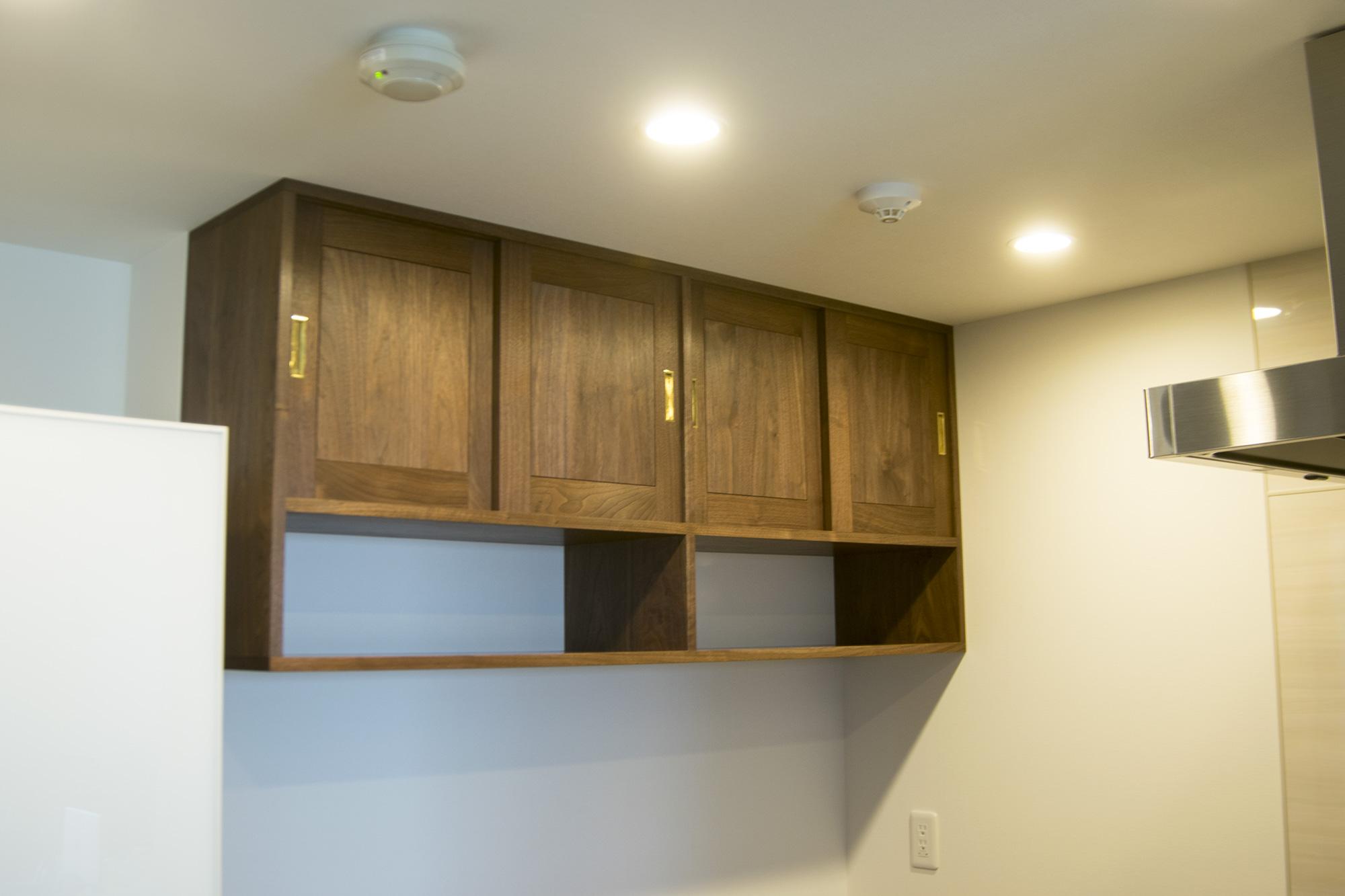 ご納品したTANA食器棚、設置後の様子