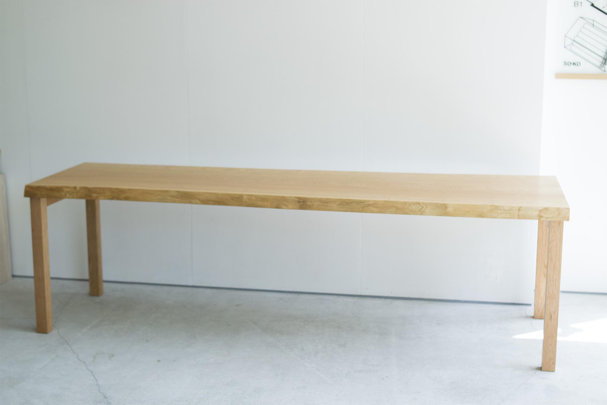 タモ一枚板天板 ダイニングテーブル