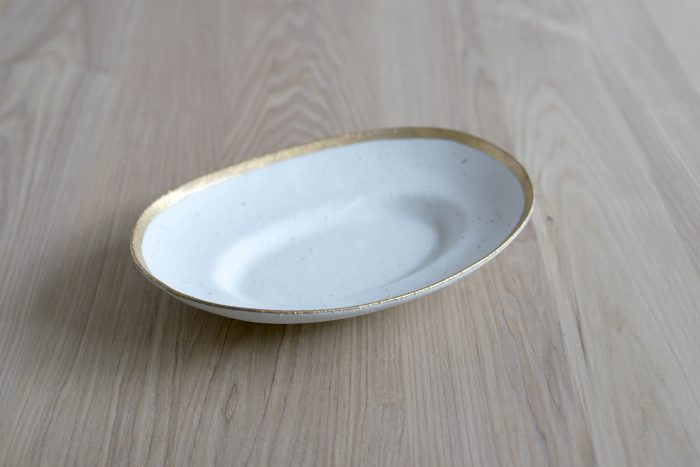小玉陶器 MY DISH / Oval / Gold