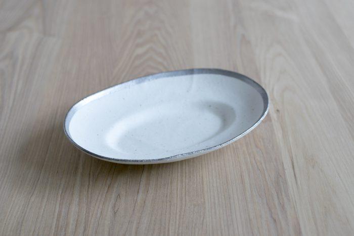 小玉陶器 MY DISH / Oval / Platinum