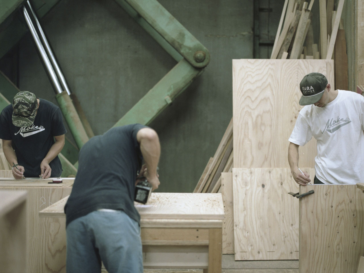 woodwork 工房の様子