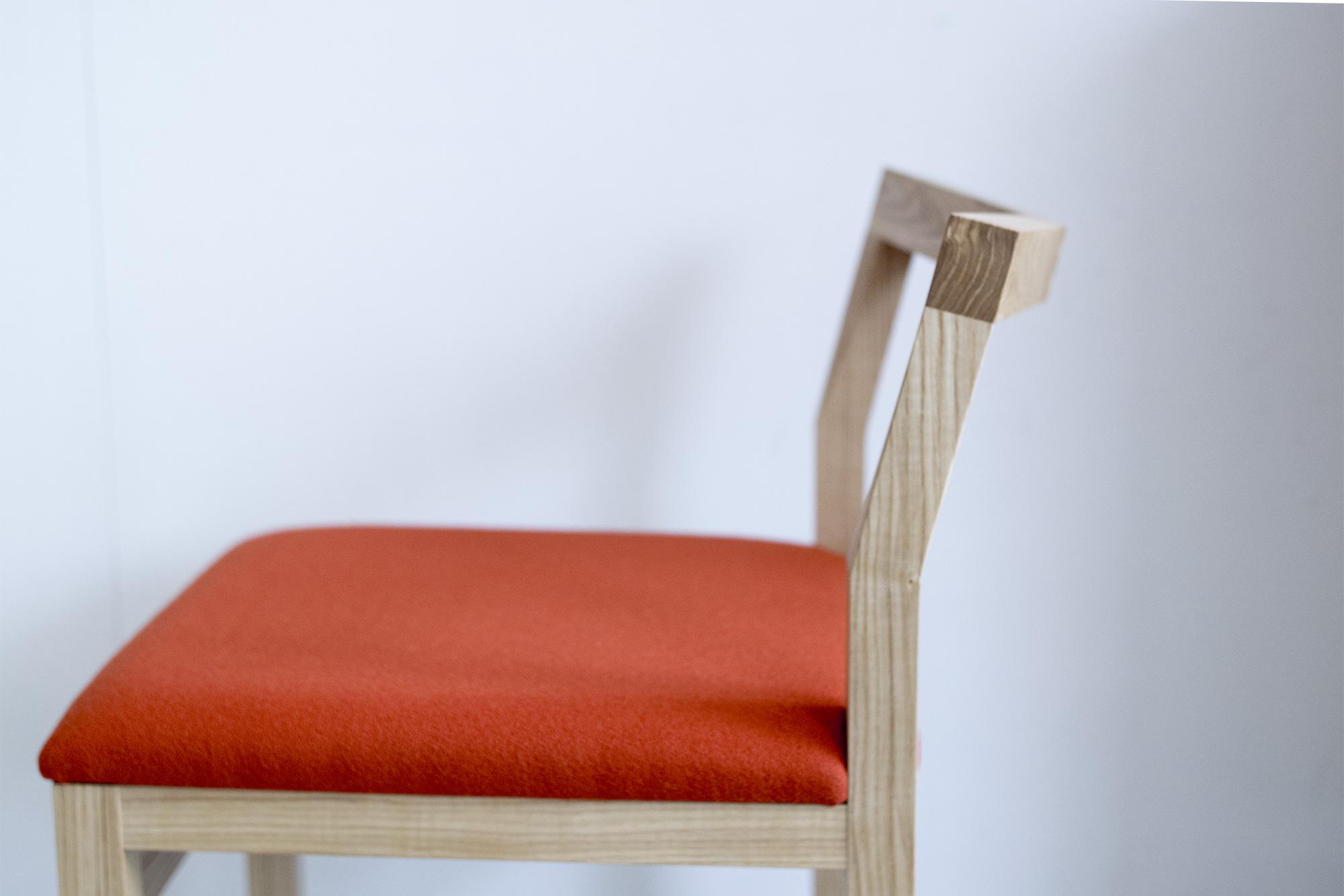 PICO Chair (タモ材+オレンジ)