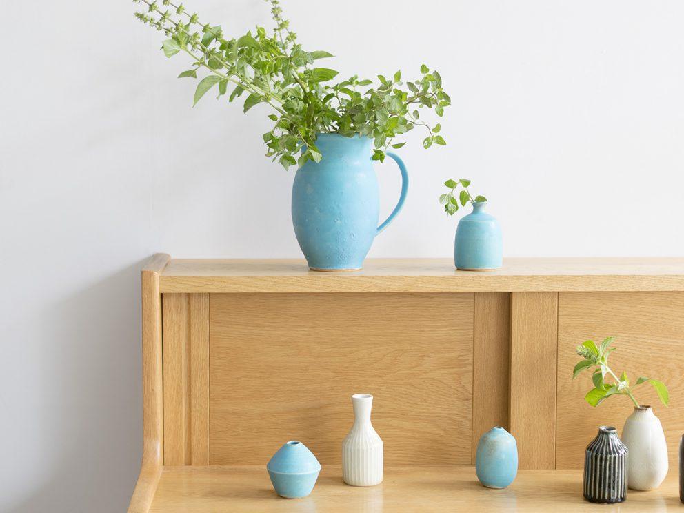 陶芸家飯高幸作さんの花器