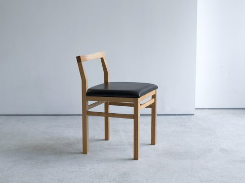 PICO Chair (ピコチェア・アメリカンチェリー材・黒革)