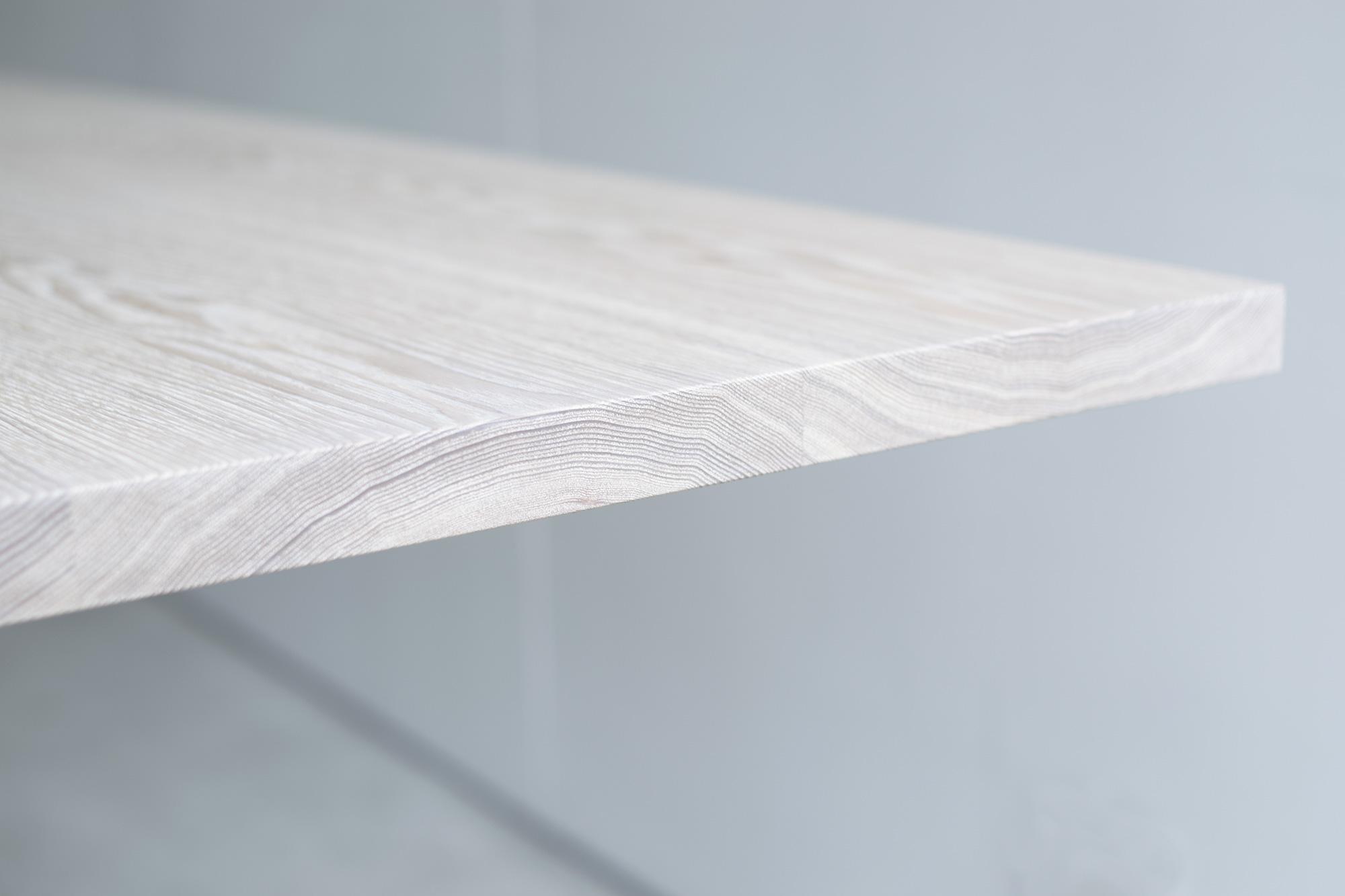 無垢接ぎ合わせ天板 木口