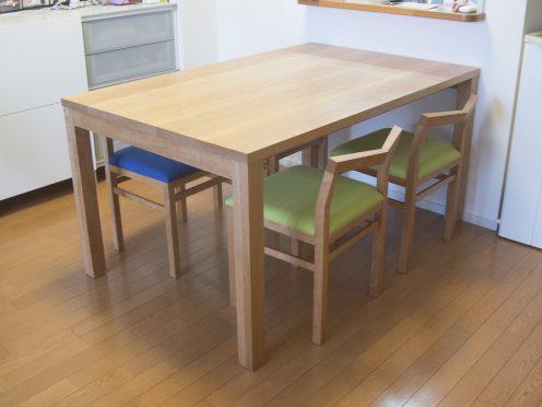 アメリカンチェリー材 スタンダードテーブルとピコチェア