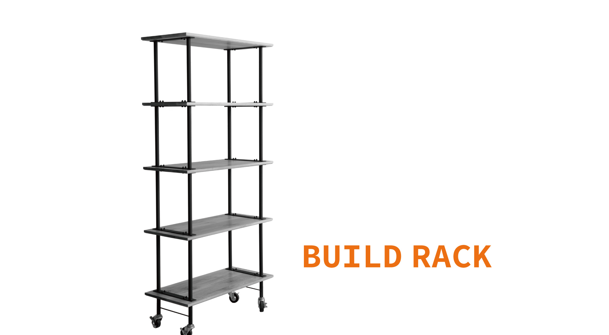 BUILD RACK W900mm Black