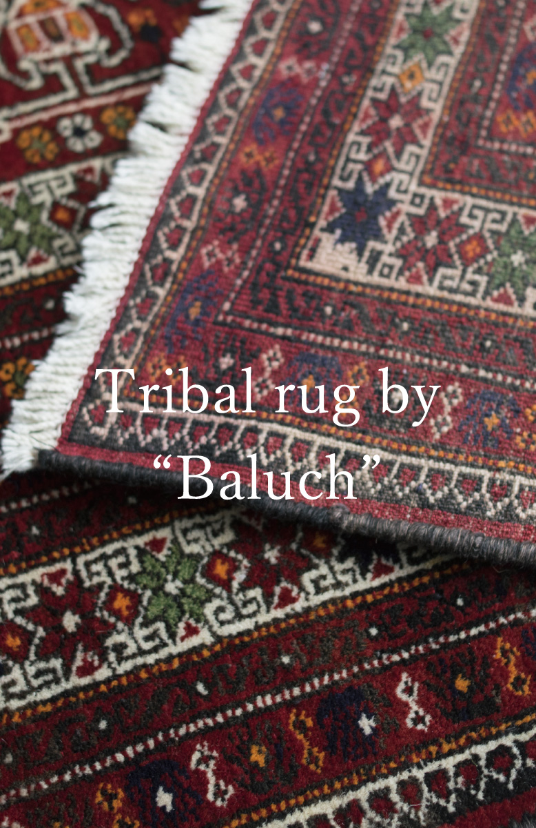 """Tribal rug by """"Baluch related tribe"""""""