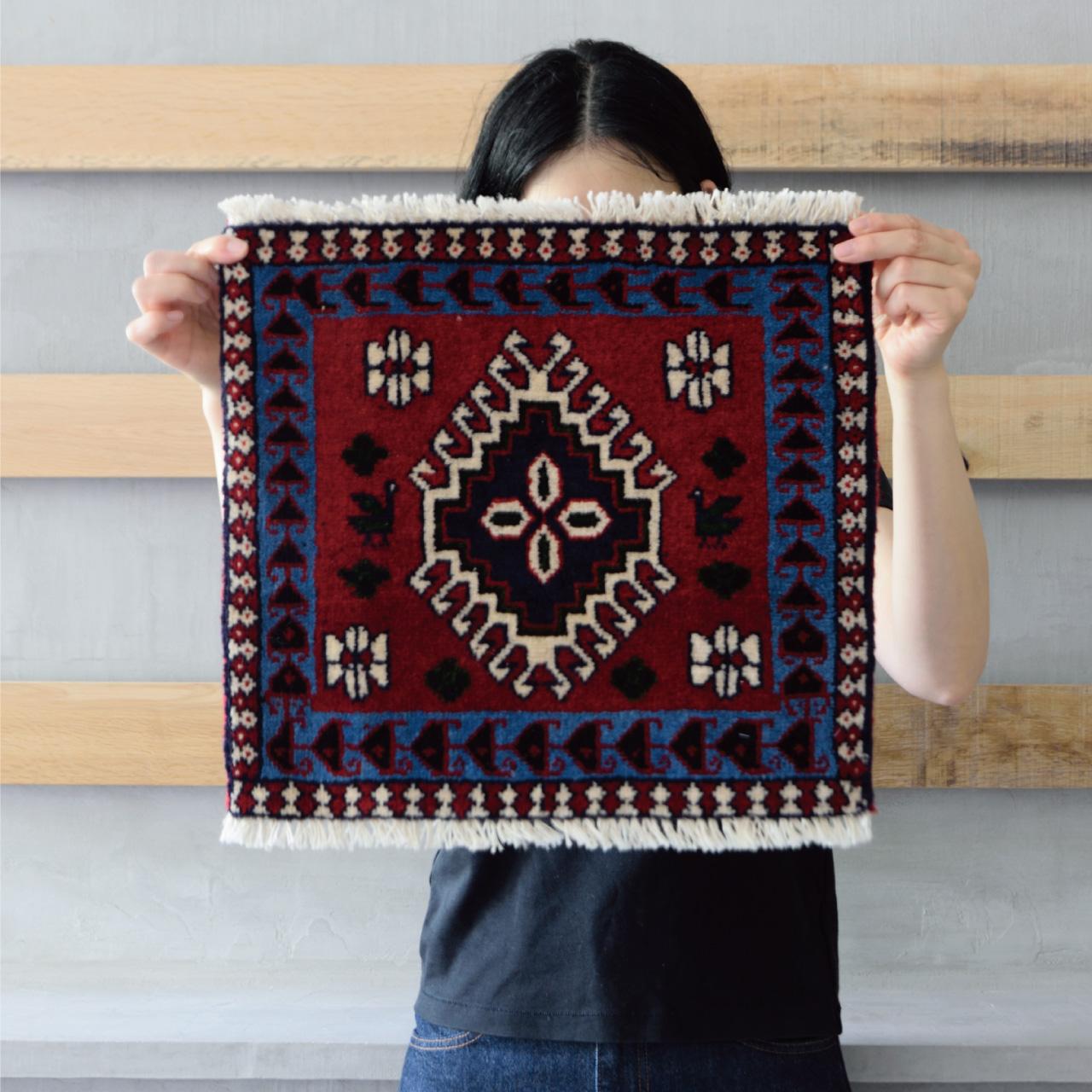 Tribal rug #71360 / 40×40cm / ヤラメ族 / ¥16,000-(税別)