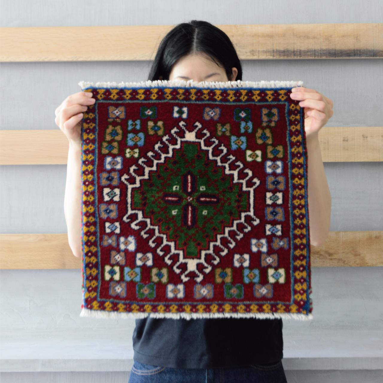 Tribal rug #71176 / 40×40cm / ヤラメ族 / ¥15,000-(税別)