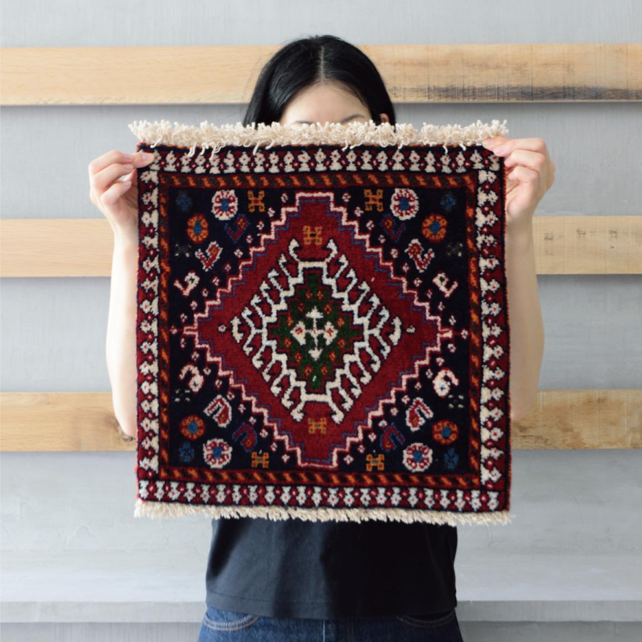 Tribal rug #71355 / 40×40cm / ヤラメ族 / ¥16,000-(税別)