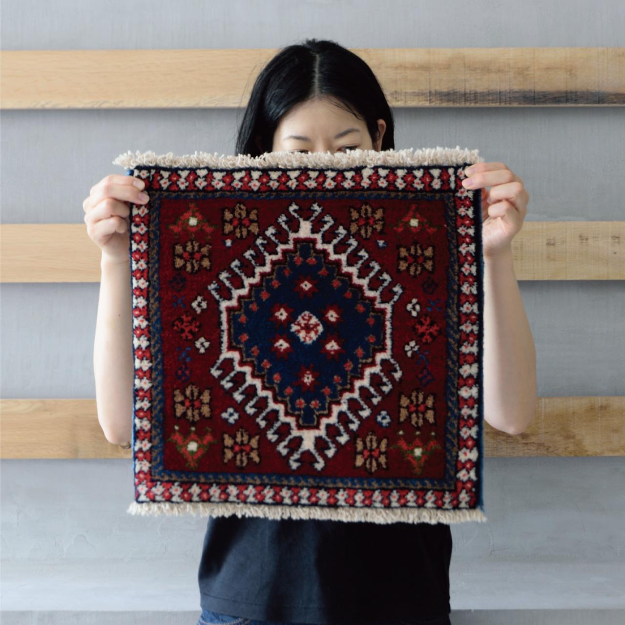 Tribal rug #71326 / 40×40cm / ヤラメ族 / ¥16,000-(税別)