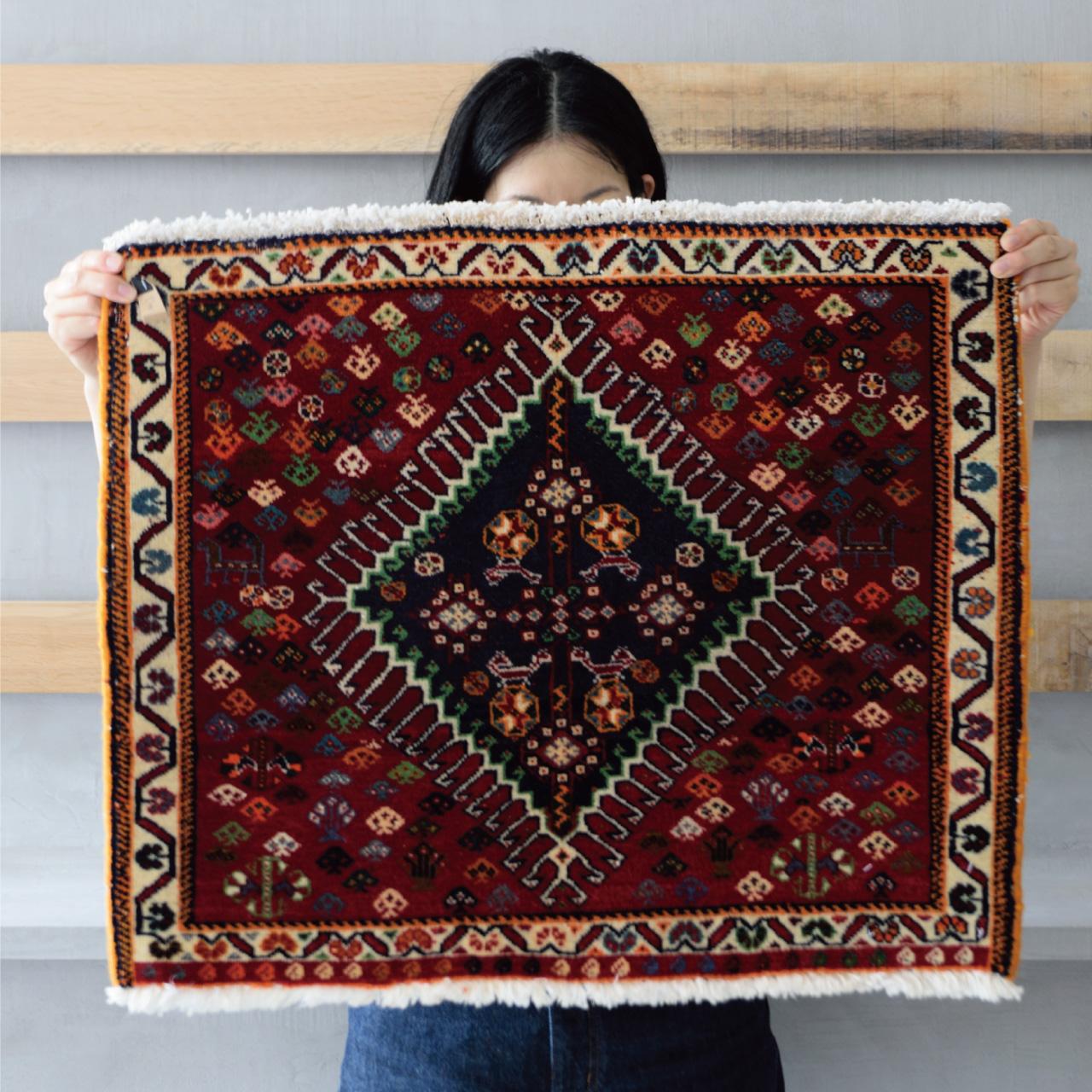Tribal rug #71678 / 60×60cm / シラーズ族 / ¥30,000-(税別)