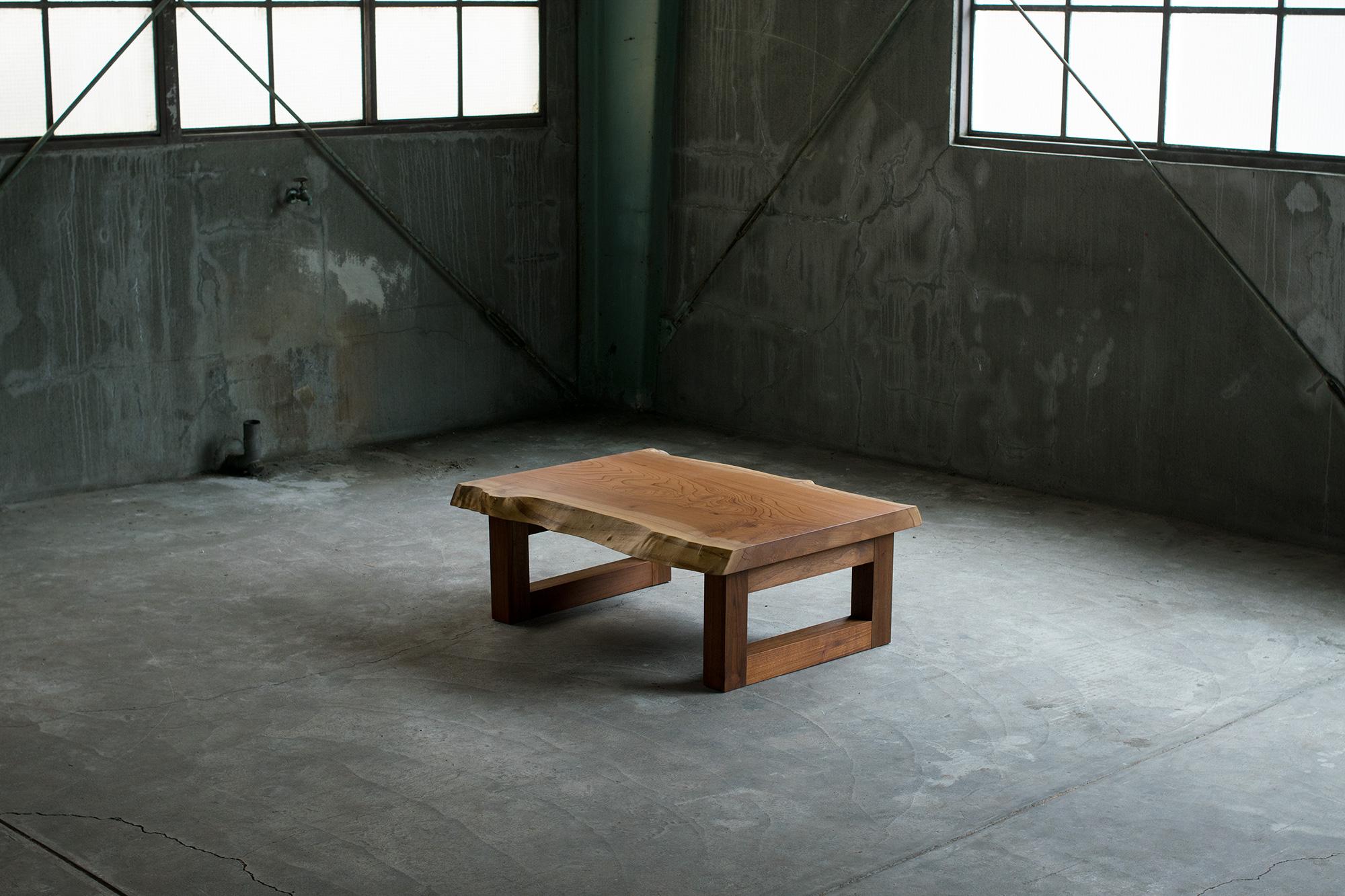 欅(ケヤキ)一枚板天板ローテーブル