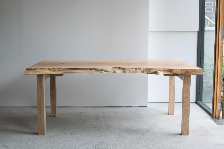 とち一枚板天板テーブル
