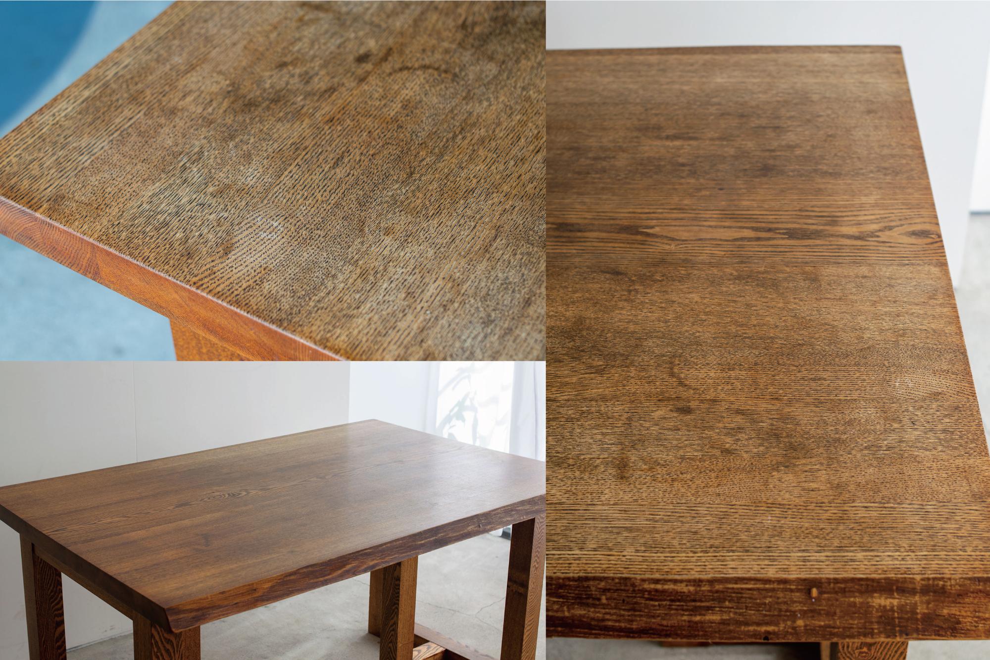 再塗装のためにお預かりしてきたテーブル