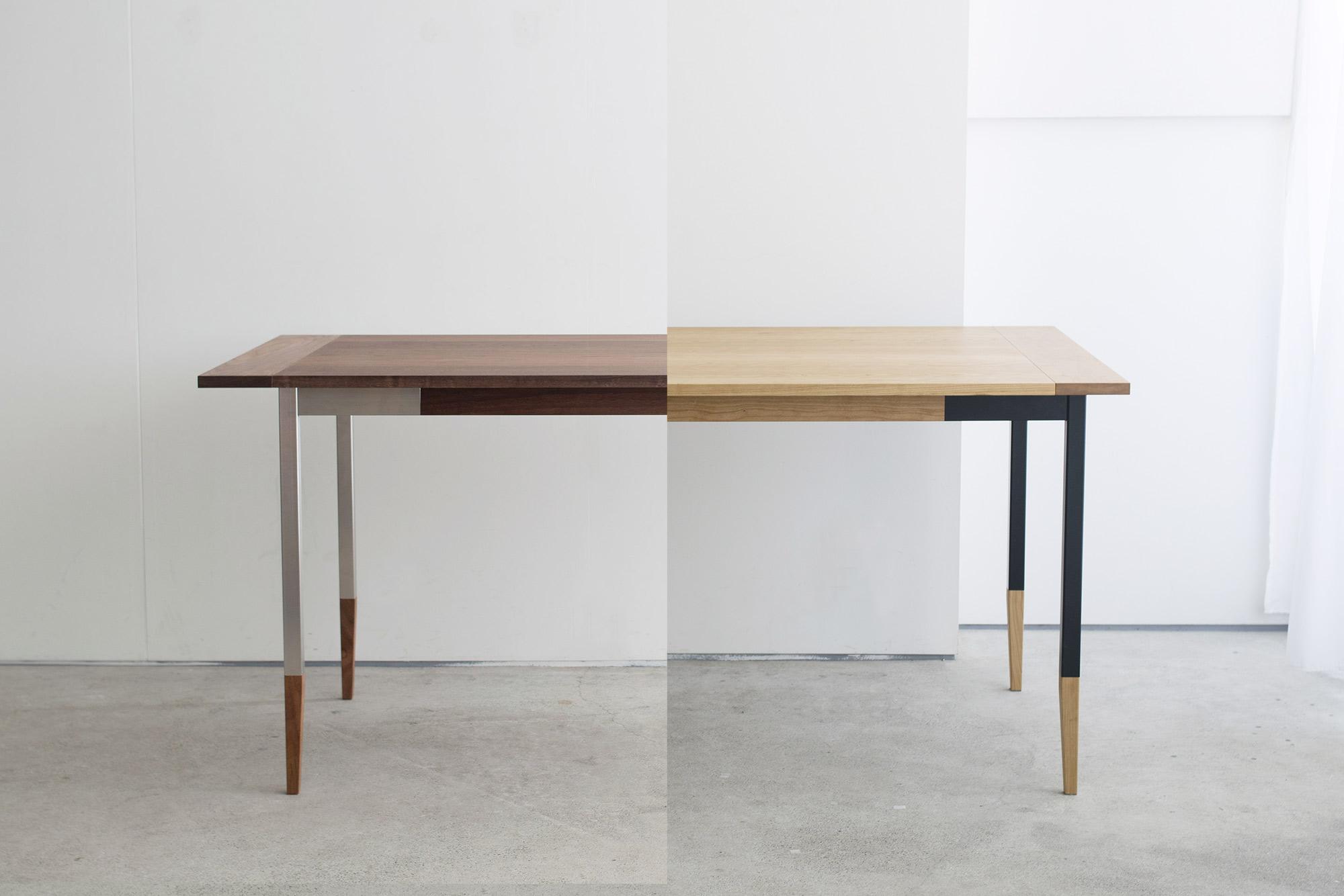 オルタナティブテーブル脚、ステンレスとスチール