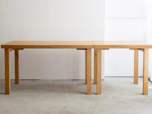 タモ材無垢天板テーブル