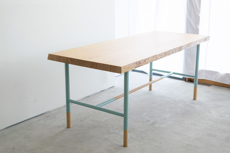 タモ一枚板天板+NEWデザインレッグス